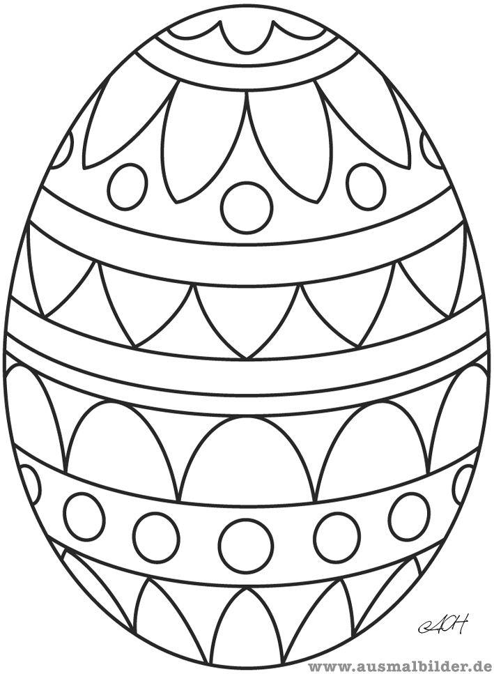 Malvorlage Osterei | Jahreszeit - Ostern | Pinterest