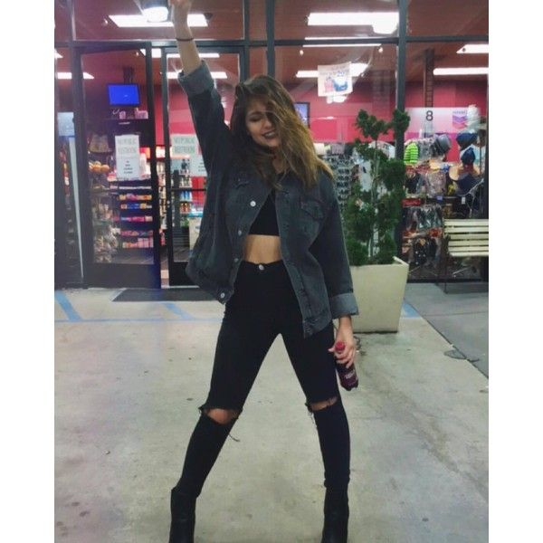 "andrea russett on Instagram: ""Gas station stops"" ❤ liked on Polyvore featuring andrea russett"