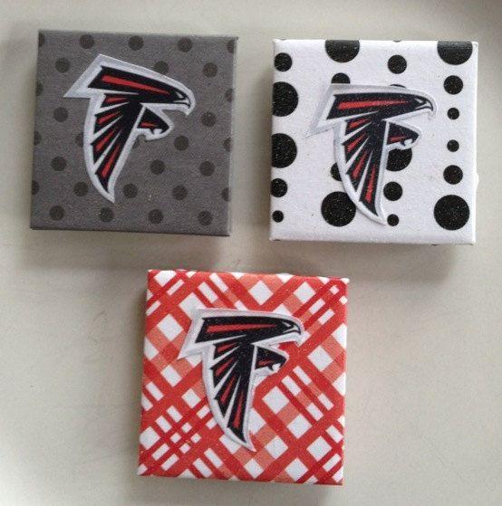 Atlanta Falcon Magnets by Jewlsbasement on Etsy, $9.99