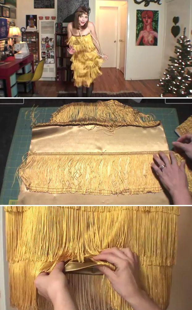Tuto et explications pour faire une robe Charleston style années 20 et son bandeau assorti.