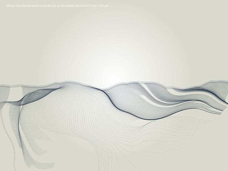 Generative graphics made with data of the sea movement: http://www.espigoplatja.com/whale/en/