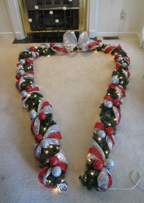 Christmas Lighted Thick Garlad Swag Inside by GiftsByWhatABeautifu, $230.00