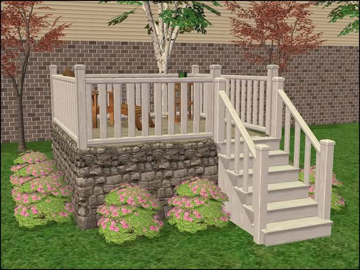 Modular stairs fence gate column add ons sims 2 for Prefab columns