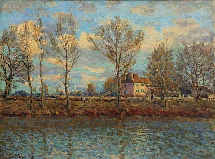 Alfred Sisley「Grand Jatte」(1873)