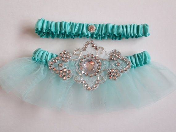 Tiffany Blue Wedding Garter @Brides The Show