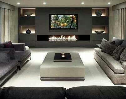 Modern interior, modern lighting