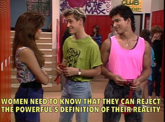 "This ""Saved By The Bell""/Bell Hooks Mash-Up Is Fighting The Patriarchy"