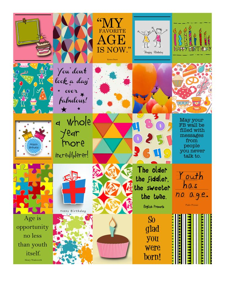 Birthday Life Planner Printable stickers for Erin Condren ...