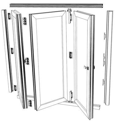 Elegant Folding Sliding Door Finishes, Folding Door, Patio Door, French Door,  Wooden And