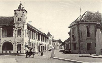Heerenstraat vanaf de Willemsbrug Semarang 1933. NFM.