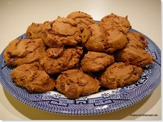 Weight Watchers 1 Point Pumpkin Cookies - YES - i dont even know if chocolate chips makes sense here... maybe caramel or pecans?