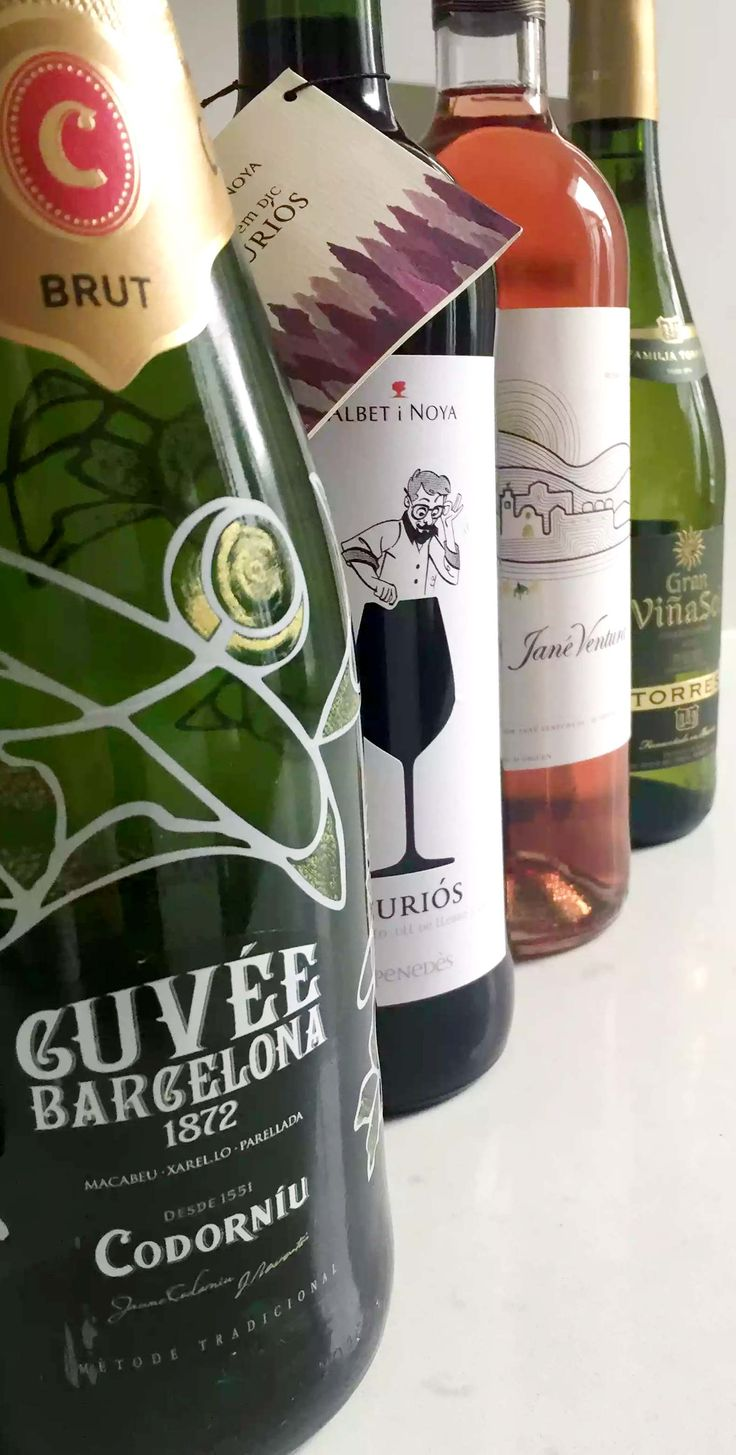 A Catalonian Wine Tasting Party tasting wines from Northern Spain including Cava, Chardonnay, Rose and Tempranillo - Giveaway included!