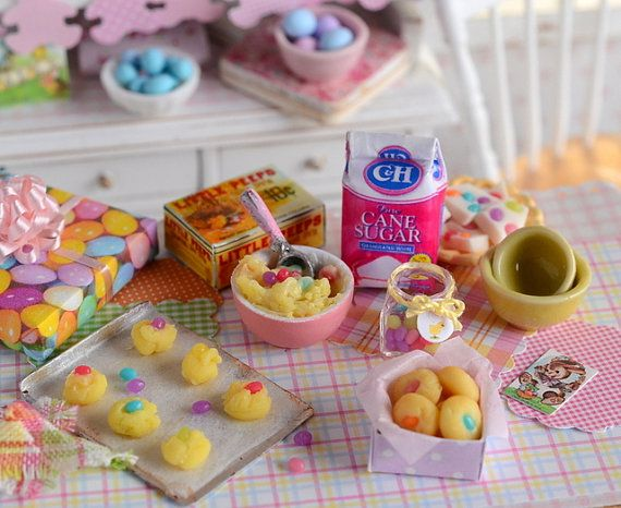 Miniature Easter Jelly Bean Drop Cookie Set by CuteinMiniature