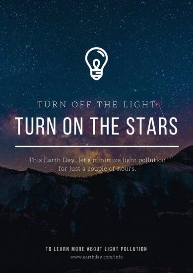 Light Pollution Environmental Awareness Poster