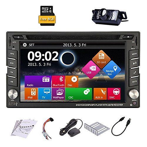 Upgarde Version With Backup Camera ! Win 8 Double Din In Dash Car Stereo Radio 2 DIN Car DVD CD Video Player Bluetooth GPS Navigation Car Entertainment with 800MHZ CPU & 8GB Map Card - http://www.caraccessoriesonlinemarket.com/upgarde-version-with-backup-camera-win-8-double-din-in-dash-car-stereo-radio-2-din-car-dvd-cd-video-player-bluetooth-gps-navigation-car-entertainment-with-800mhz-cpu-8gb-map-card/  #800MHZ, #Backup, #Bluetooth, #Camera, #CARD, #Dash, #Double, #Ent