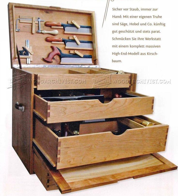 woodworking tool chest plans workshop solutions caisses a outils pinterest travail du. Black Bedroom Furniture Sets. Home Design Ideas