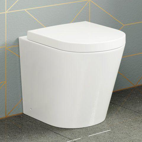 Lyon Back to Wall Toilet inc Luxury Soft Close Seat - soak.com