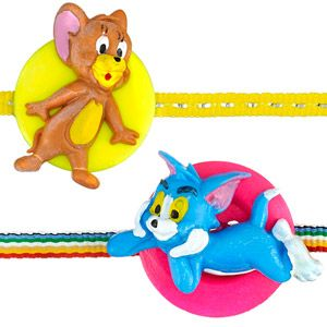 Set of 2 cheerful rakhis for the little brother. Send all your wishes to your dear brother with Tom and Jerry rakhis. Rs 399/- http://www.tajonline.com/rakhi-gifts/product/rdr85/tom-jerry-rakhi/?Aff=pint2014/