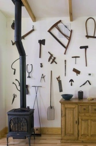 ISA & MAT  display old farm tools (that kids won't hurt themselves on) as a reminder of the work we are called to