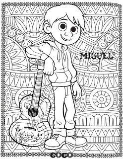 Coco Para Colorear Pelicula Coco Mandala Para Niños Coco