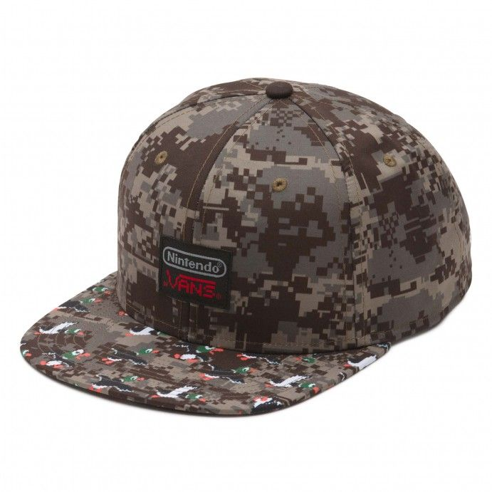 Vans and Nintendo come together to celebrate the early days of video games with a truly unique collaboration featuring one-of-a-kind graphic prints. Showcasing 8-bit artwork of Nintendo's iconic characters, the Nintendo Duck Hunt Snapback Hat is a 100%