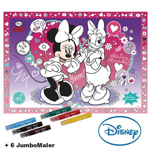 #BoMaBi #Minnie Mouse ● Poster 118 x 84 cm zum #ausmalen incl. 6 Jumbomalern ● #Malen, #Spielen, #joyPac®