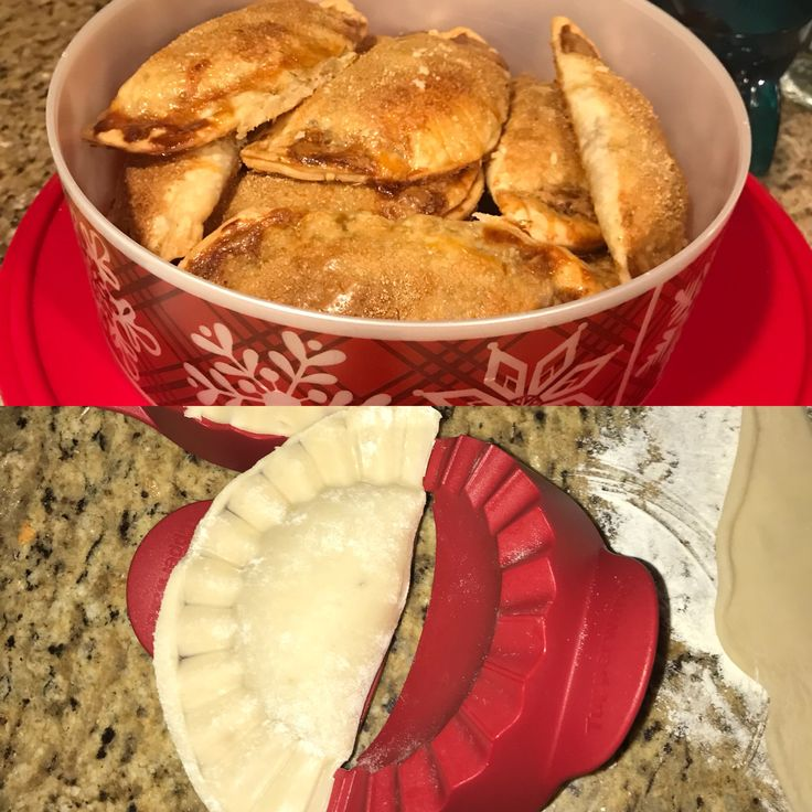 Empanadas made with Tupperware turnover maker #pineapple #empanadas #desserts #recipes