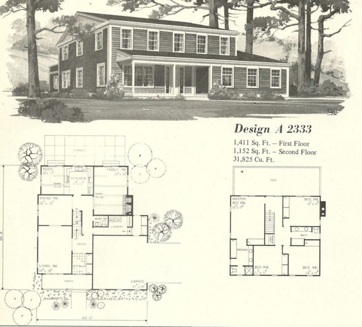 vintage house plans farmhouses