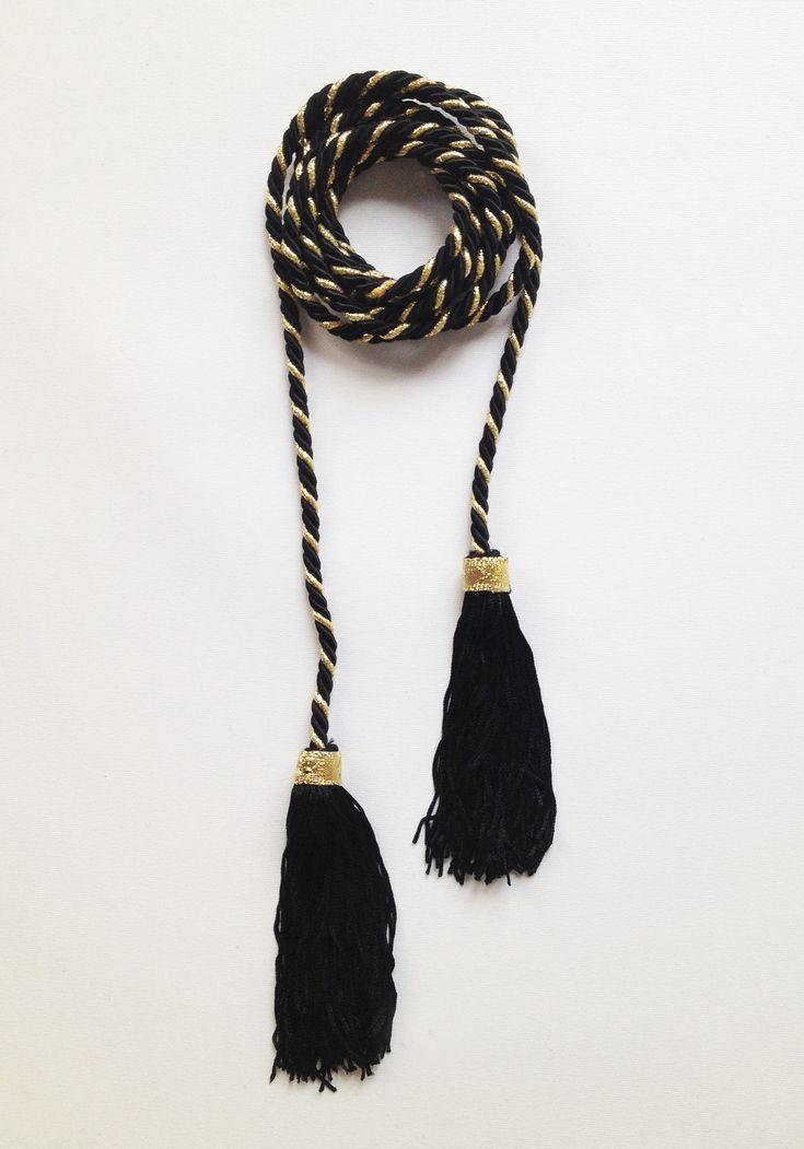 DIY: tassel belt