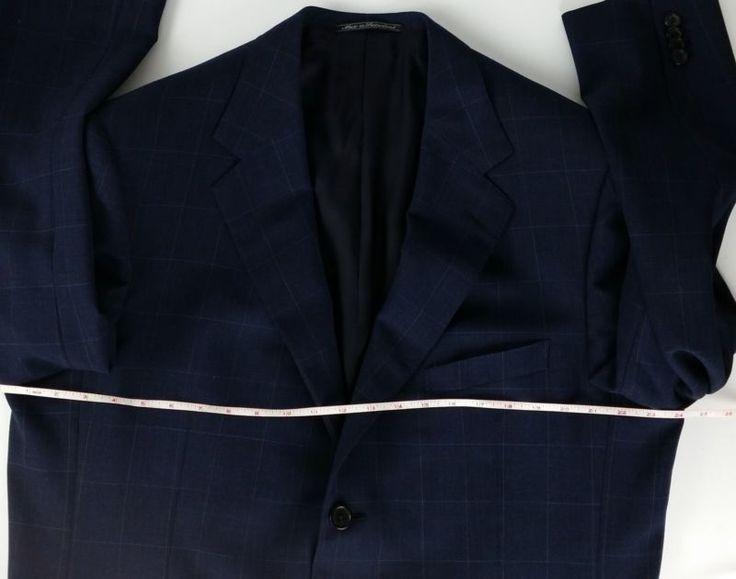 Measure from underarm to underarm with jacket lying smooth and flat