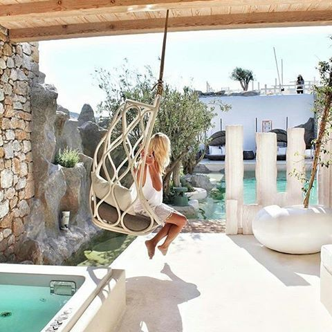 Moments of pure relaxation! 💙Repost @bookonin ・・・ Found my happy spot at @kenshomykonos #kenshomykonos #mykonos #designhotel #boutiquehotel #ornosbay #luxurydesign #luxurytravel #lifestyle