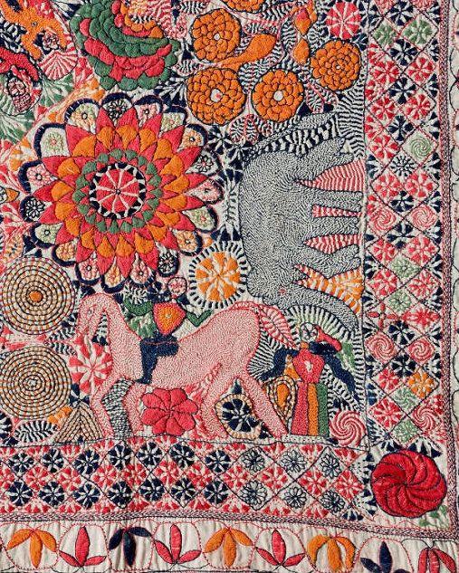"""Мастерская """"Шерстяная лампочка"""" - Kantha – вышитые одеяла из Бангладежа."""