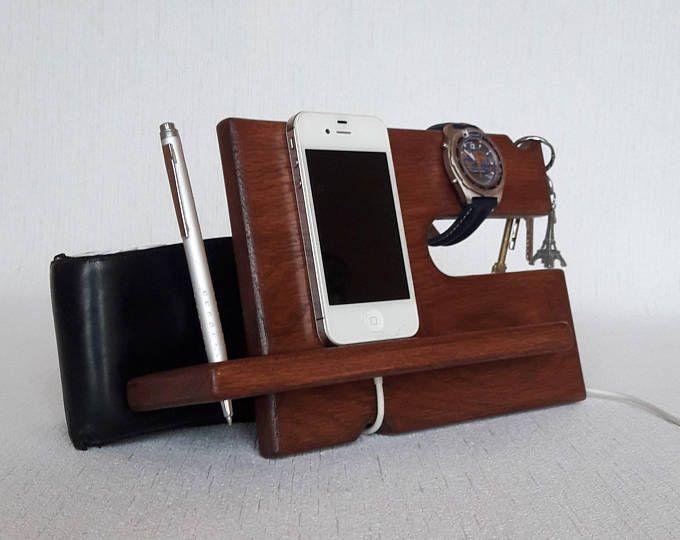 Best Walnut Wood Phone Docking Station For Men Bedside 400 x 300