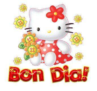 orkut e hi5, Bom Dia, hello kitty, cumprimento, Bom Dia!, mensagem para orkut