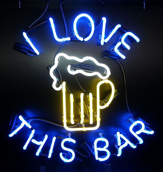 I Love This Bar Custom #Neon Bar Sign  http://www.neonandmore.com/neon-signs/custom-neon-signs.html