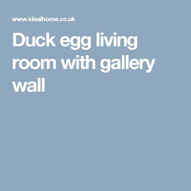 Duck egg living room with gallery wall