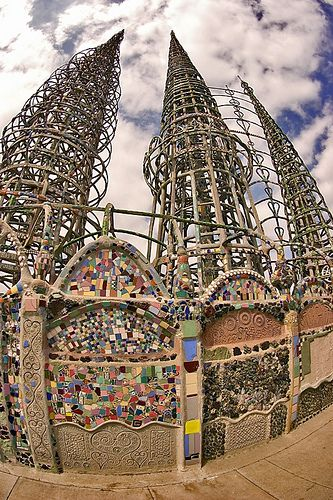 Watts Towers in Los Angeles. Built by a guy who just wanted to build something awesome alone.