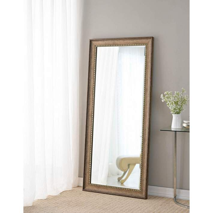 Camilla Antique Gold 30 1 2 X 58 Arched Floor Mirror 79a48