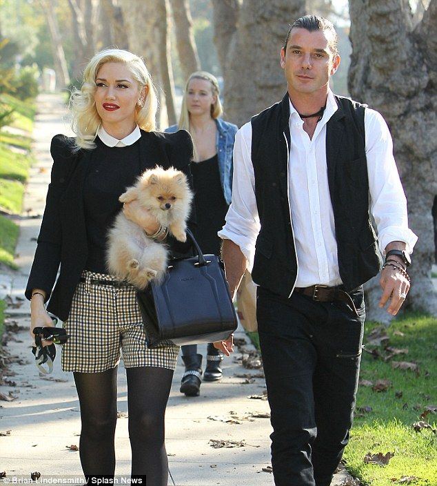 The way they were: Gwen split with Gavin Rossdale in August but there have since been reports the rocker cheated on his wife with their children's nanny, Mindy Mann (picture rear 2012)