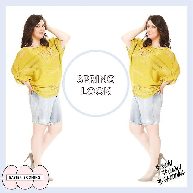 #spring #fashion #colours #jeans #sexy #curvy #shopping #plussize #plussizefashion