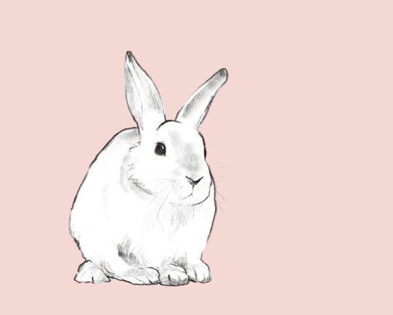 Girl Nursery Art Bunny Rabbit Baby girl Printable by CubsandKids