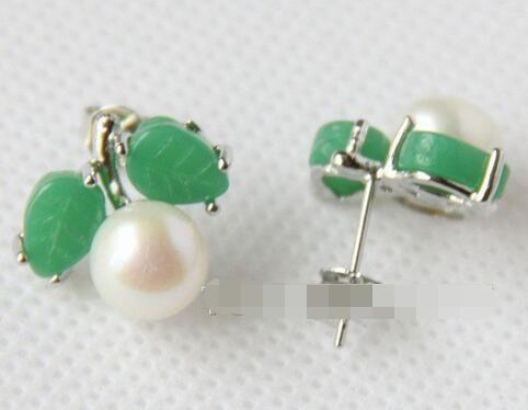 Cheap earrings for women, Buy Quality earrings for directly from China earrings free shipping Suppliers: Beautiful 2 Pairs Natural White Beads Green Jadeite Earrings>>>silver earrings for women Free shipping