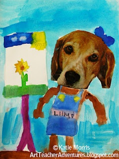 "Link with Wegman photos.  Based on the book ""Dogs Don't Brush Their Teeth""...Dogs Don't Make Art!"