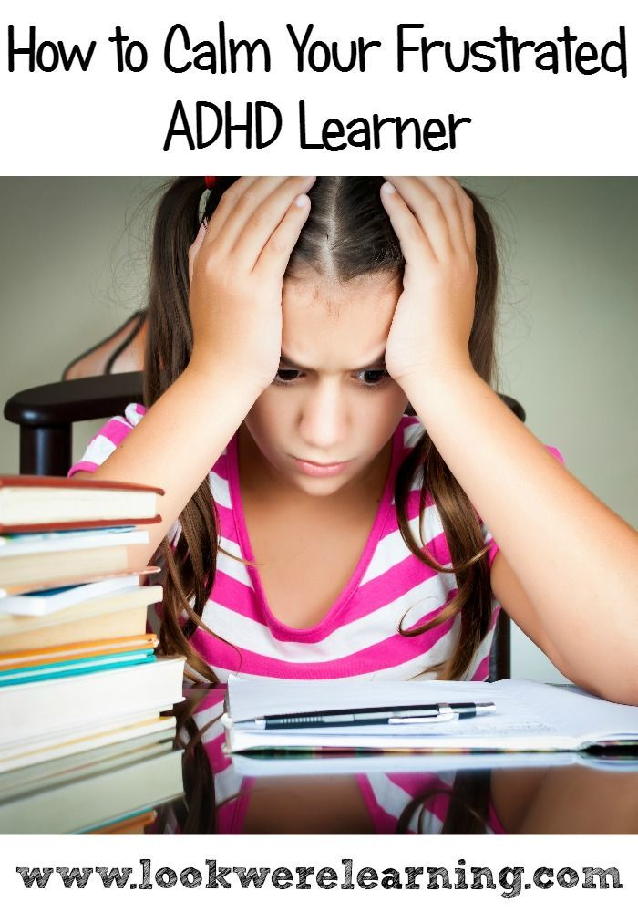 Does your child with ADHD get frustrated during schoolwork? Try these tips to deal with ADHD and frustration in kids!