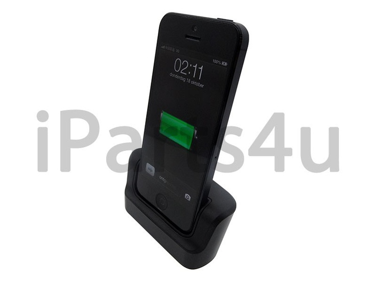 Luxe Lightning Docking Station iPhone 5 Dock Zwart