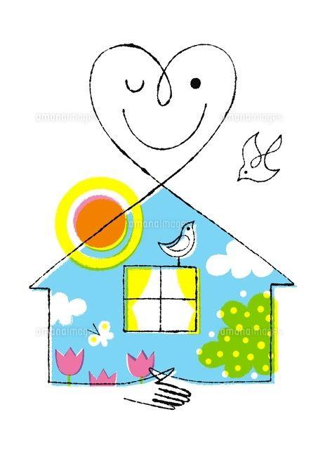 ハートの顔の家(エコイメージ) (c)Formmart