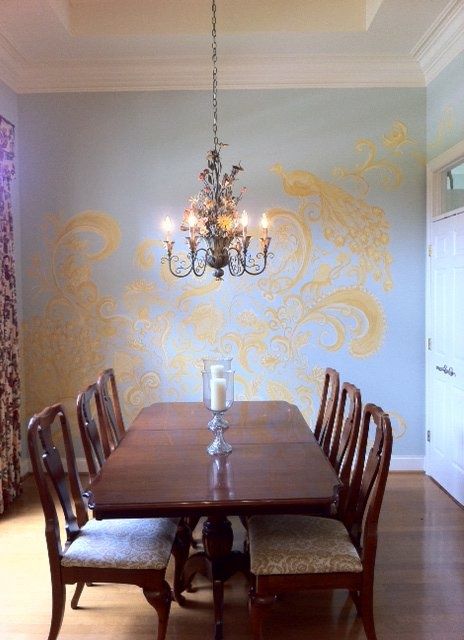 Beautiful wall mural painted by Erin Chance Fenstermaker http://www.erinchancefenstermaker.com