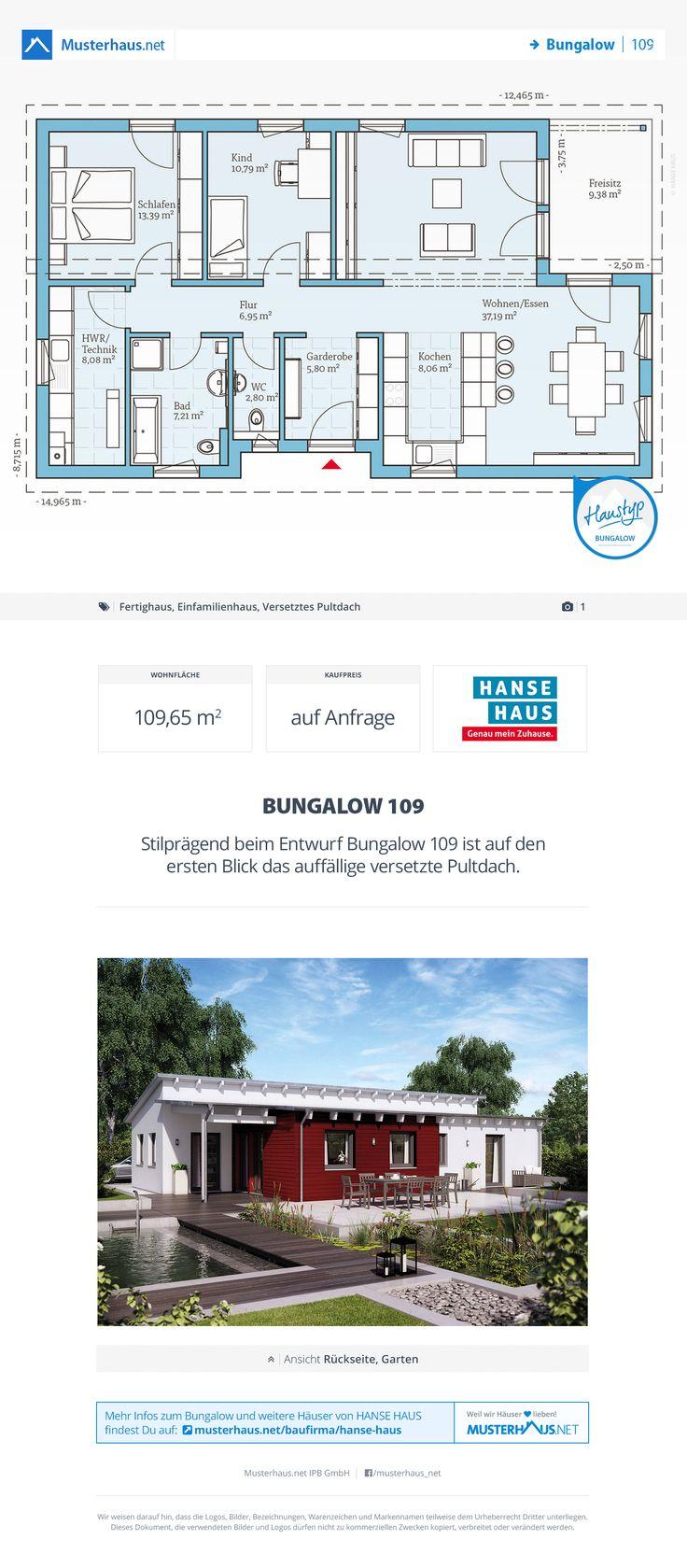Musterhaus grundriss bungalow  12 besten Bungalow Grundrisse Bilder auf Pinterest | Offene küche ...