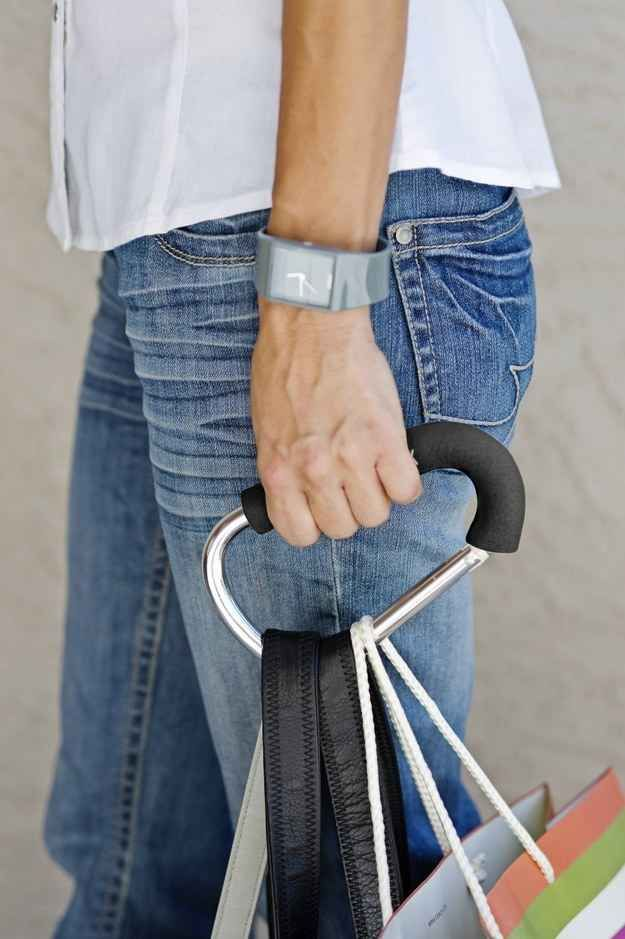 A hook that makes carrying a ton of bags way easier and more comfortable.