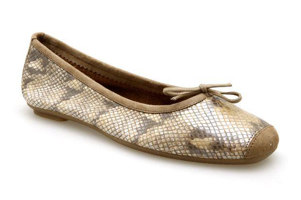 Ballerines REQINS HARMONY PYTHON Naturel - Chaussures femme
